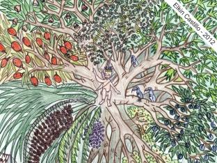Deel van een illustratie door Elkin D Castillo 2012