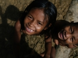 Kinderen vanuit het dorp San Martin de Amacayacu - Foto Kees van Vliet - 2011