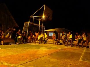 Tijdens een gemeenschapsbijeenkomst in San Antonio
