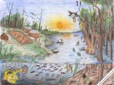 Tekening door Willian Harvey Ahue vanuit San Juan - Winnaar van de tekenwedstrijd georganiseerd door Elkin Castillo