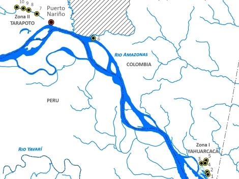 Mapa - Area de Trabajo - Proyecto Yahuarcaca - Adaptado