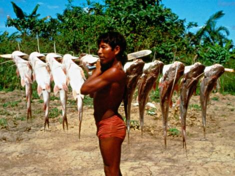 Pesca, Belém do Solimões, Terra Indígena Évare I, Foto Jussara Gruber, 1979
