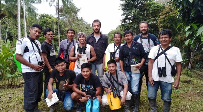 Training van inheemse gidsen in Birdwatching en Monitoring